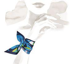 En Desordre Hermes silk twilly, 32'' x 2'' Ref. H062296S 09
