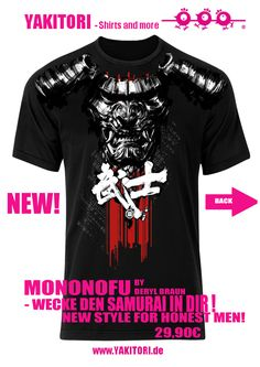 Mononofu Samurai Style Mode Shirt for Men Cosplay Manga Japan mehr auf www.yakitori.de