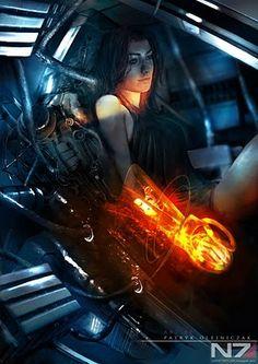 Amazing Mass Effect Fan Art - Miranda #Mass_Effect #Video Games #Art