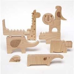 These hand-cut wooden animals are a fun puzzle for your little one. They are made from FSC-certified natural beech wood and made in a factory relying on renewable energy.