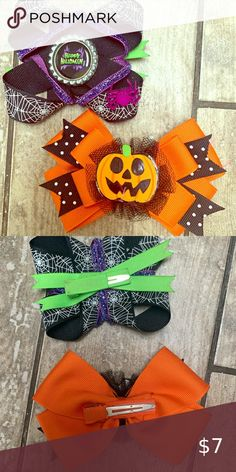 Halloween Hair Clips, Halloween Tips, Kids Hair Accessories, Two Girls, One And Other, Kids Shop, Bows, My Favorite Things, Cute