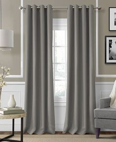 Elrene Essex Grommet Linen Window Treatment Collection - Easy Care Linen Look! - Window Treatments - For The Home - Macy's