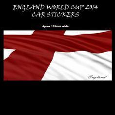 World Cup 2014 England Stickers decals for Windows cars bikes caravans homes (england flag) Caravan Home, World Cup 2014, Caravans, Car Stickers, Decals, Flag, England, Homes, Windows