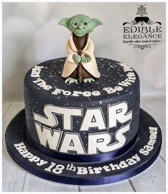 Yoda Star Wars birthday cake