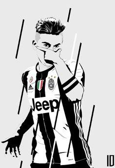Dybala Cristano Ronaldo, Ronaldo Football, Ronaldo Juventus, Cr7 Messi, Messi Soccer, Football Player Drawing, Football Players, Soccer Art, Football Boys