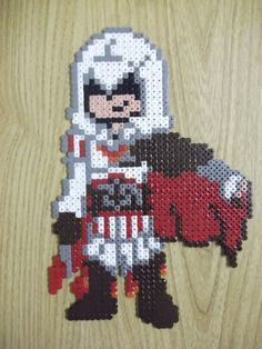 Ezio Assassin's Creed made of perler fuse beads by ~capricornc5 on deviantART