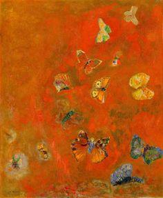Butterflies, by Odilon Redon
