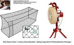 your backyard baseball batting cage net 40x12x10 baseline pitching