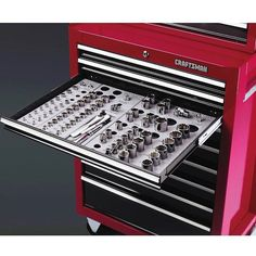 Wrench Socket Organizer Set Craftsman Bottom Chest Standar Metric Ratchets Tool  #Craftsman                                                                                                                                                      More
