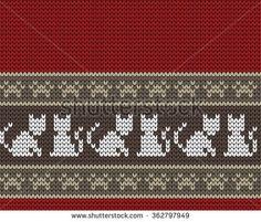 Benzer Set of Fair Pattern sweater design on the wool knitted texture. Red and Blue Knitting Ornament Görselleri, Stok Fotoğrafları ve Vektörleri - 327357905 Fair Isle Knitting Patterns, Fair Isle Pattern, Knitting Charts, Knitting Designs, Knitting Stitches, Knitted Christmas Stockings, Christmas Knitting, Blackwork Patterns, Cross Stitch Patterns
