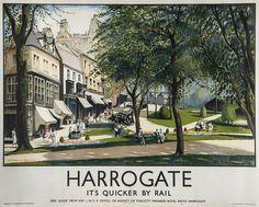 * ENGLAND - YORKSHIRE Vintage travel posters Harrogate England