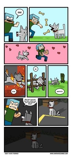 All 3 MInecraft comics from Awkward Zombie. (Not mine, all credit to Awkward Zombie.) - Imgur