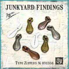 Junkyard Findings by Ingvild Bolme - Prima Typo Zippers Metal Embellishments