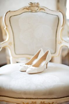 White wedding shoes: http://www.stylemepretty.com/little-black-book-blog/2015/02/16/elegant-czech-chateau-wedding/ | Photography: Stepan Vrzala - http://www.stepanvrzala.com/