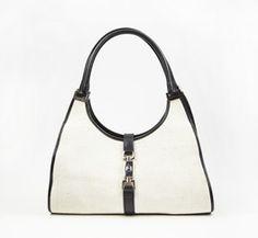 Gucci Black And White Handbag