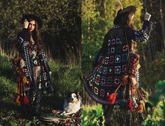 TRUE HANDMADE psychedelic granny square crochet coat with