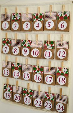 Do you want a simple way to help your family mark the days until Christmas arrives? Spend an afternoon building this Charming Paper Bag Advent Calendar. Easy Christmas Crafts, Christmas Love, Christmas Holidays, Christmas Decorations, Christmas Tables, Nordic Christmas, Modern Christmas, Christmas Ideas, Advent Calander