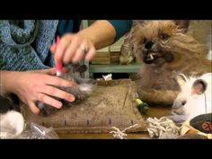 Needle Felting Instruction: Bunny Puff Episode 3, Adding the Angora by Sarafina Fiber Art