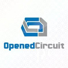 Exclusive Customizable Logo For Sale: Opened Circuit | StockLogos.com