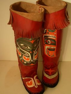 Native American moccasin boots.
