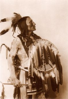 An old photograph of Kills Enemy - Omaha Southern Sioux.