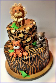 Jungle Baby Shower Cake