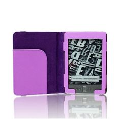 """SAVEICON Purple Premium Quality Custom Fit Folio Leather Case Cover for Latest Generation 2011 Kindle 4 Wi-Fi 6"""" E Ink Display (4th Generation 6"""" Kindle Wi-Fi w/o Keyboard) by SAVEICON. $5.99. Meet the NEW SAVEICON (TM) PU Leather Folio Case for Amazon Kindle 4 - 2011 NON TOUCH (Version). It is Specially designed for Amazon Kindle 4 - 2011 NON TOUCH (Version).  This case is made of High Quality PU Leather Material. There is a file pocket on the left side of the case. Yo..."""