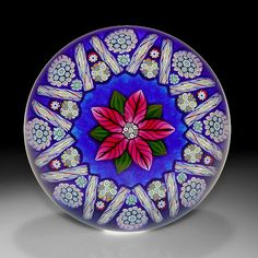 Peter McDougall Paperweights | Peter McDougall Glass Studio: Close packed millefiori paperweight ...