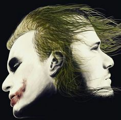 "Heath Ledger as The Joker in ""A Dark Knight."""