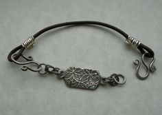 My first ever precious metal clay (PMC) bracelet - this was so much fun to make!