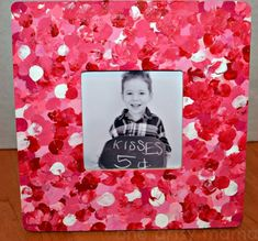 DIY Valentine's Day Crafts for Kids..might be doing this with my 1 year olds for their parents