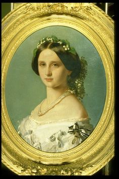 """Princess Louise of Prussia, Grand Duchess of Baden (1838-1923)"", Minna Pfuller, 1858; Royal Collection Trust 403677"