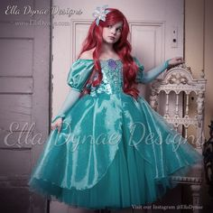 Ariel Disney Inspired Dress Ariel's Green Dress from by EllaDynae