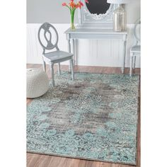 Shop for nuLOOM Vintage Ornate Adileh Blue Rug (5' x 8'). Get free shipping at Overstock.com - Your Online Home Decor Outlet Store! Get 5% in rewards with Club O!