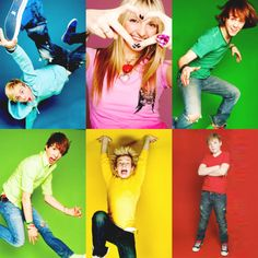 R5 (Blue-Riker, Pink-Rydel, Dark Green-Ratliff, Lime Green-Rocky, Yellow-Ross, and Red-Ryland)