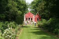 Venue Ideas - The Red House, Painswick Rococo Garden. Up to 80 guest. Most of the ceremony takes place on the terrace outside