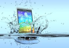 Dropped Your iPhone in water? Heres how to fix it. Water Damage, Electronic Devices, Getting Wet, Wallpaper Backgrounds, Northern Lights, Waves, Outdoor, Smartphones, Humor