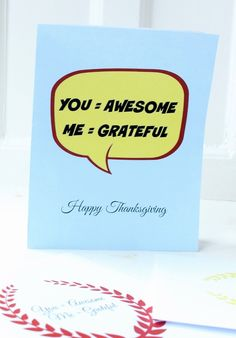A fun way to say thanks this Thanksgiving.