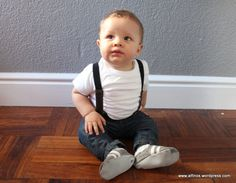 baby boy clothes - in suspenders!