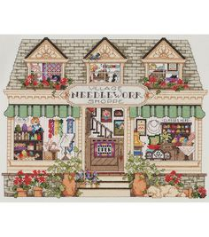 "Needlework Shoppe Counted Cross Stitch Kit-14""X11"" 14 Count, , hi-res"