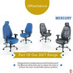 Mercury - Part of our 24/7 Chair Range #office #ergonomic