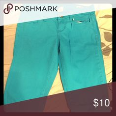 Reduced🚨🚨Turquoise pants Turquoise pants, no tags but new Faded Glory Jeans Skinny