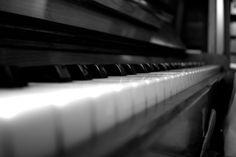 Blurred piano