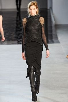 Helmut Lang Fall/Winter 2012 collection.