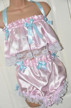 Silky satin dressing up and posing bra & panties set (Set Sissy Lingerie Baby Doll Nighties, Southern Belle Dress, Satin Dresses, Slip, Bra Tops, Night Gown, Dress Up, Women Wear, Cute Outfits