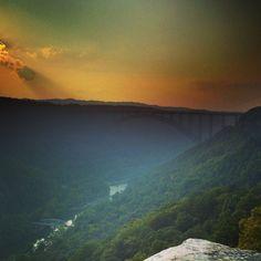 New River Gorge - so majestic - so beautiful. Photo taken by Will Deskins, rock climber, designer @mijo nick Relativity