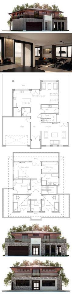 modern 2 storey house plans with garage
