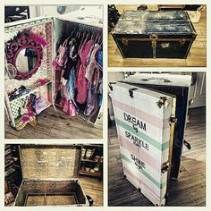 Upcycled Travel Trunk into a dress-up trunk DIY