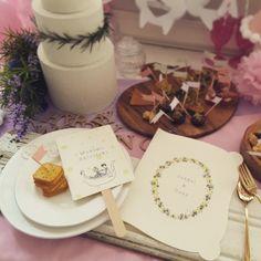 【席札 & Menu】ラプンツェル風 うちわタイプ | HATTI Wedding Shop