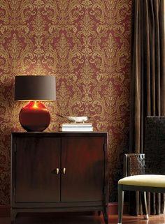 Un tapet damask elegant si bogat in detalii ce ii accentueaza frumusetea! #tapet, #tapetdamask